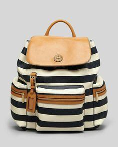 eleganter Rucksack mit Leder Elementen