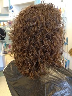 Portfolio of It's Time Hair Stylist and Owner Pam Medium Permed Hairstyles, Curled Hairstyles, New Perm, Medium Hair Styles, Long Hair Styles, My Hair, Curly Hair, Cut And Color, Curls