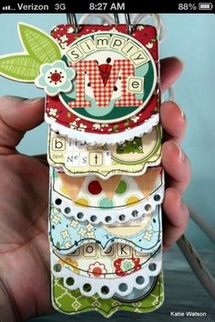 #3 Mini book- materials: asst card stock, decorative scissors, punches, 2 ring clips, pens, ribbon, and a layered template( for cutting pages). Time: 2 hours. Teacher : Janall