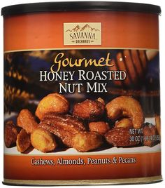 Savanna Orchards Gourmet Honey Roasted Nut Mix, 30 Ounce -- Amazing product just a click away  : Fresh Groceries