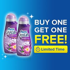 *THIS COUPON OFFER HAS ENDED* Get your Buy One, Get One FREE coupon for Purex Crystals -- available for a limited time!