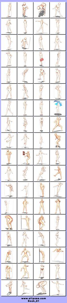 漫画pose教程丶 ❀ - 堆糖 发现生活_收集美好_分享图片