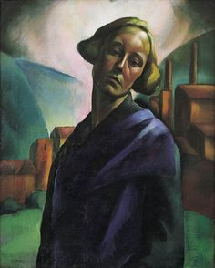 Erzsébet Korb (1899–1925),   Hungarian painter.  Self-portrait, circa 1921,oil on canvas, Height: 80 cm (31.5 in). Width: 64 cm (25.2 in). Private collection.