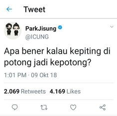 Read Park Jisung from the story RECEHAN NCT by AkuMerayapDidinding (Manusia) with reads. Quotes Lucu, Jokes Quotes, Funny Quotes, Funny Memes, Michaela, Kpop, Albert Einstein Quotes, Quotes Indonesia, Twitter Quotes