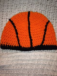 Basketball beanie crochet hat for baby by Crochetmeariverbaby, $14.99