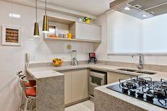 Apartamento ES por Luciana Ribeiro Arquitetura | homify Kitchen Cabinets, Table, Furniture, Home Decor, Good Ideas, Kitchens, Arquitetura, Log Projects, Houses