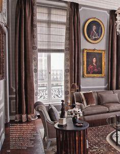 Paris Left Bank Apartment by Jean-Louis Deniot - Living Room. AD