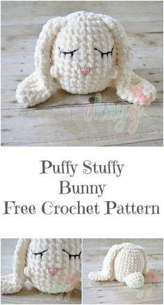 Puffy Stuffy Bunny, Free Crochet Pattern