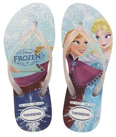 6ca605c087533 Havaianas Flip Flops for Girls Made in Brazil Free Shipping Frozen 5-6  Years Old