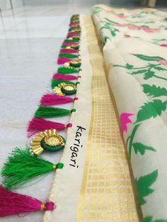 Saree Tassels Designs, Saree Kuchu Designs, Blouse Designs, Indian Jewellery Design, Jewelry Design, Tatting Jewelry, Women's Fashion Dresses, Designer Dresses, Nice Dresses