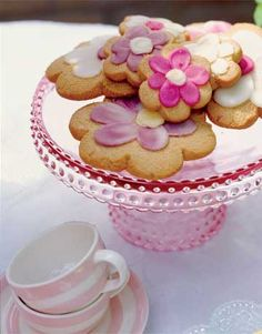 Butter Cookies. Made into pretty flower cookies. The dough can be made several days ahead and stored in the refrigerator; the cookies can also be baked ahead and stored in air-tight containers.