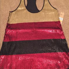Racer back bling bling top. Gorgeous sparkled out racer back tank. DKNY. NWT! Size S DKNY Tops Tank Tops