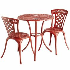 modern patio furniture and outdoor furniture by Pier 1 Imports - really want this set