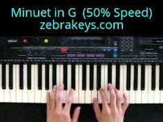 Minuet in G on piano (at 50% speed)