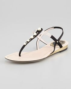 Women s Pearlescent-Beaded Thong Sandal 8e807190fa75