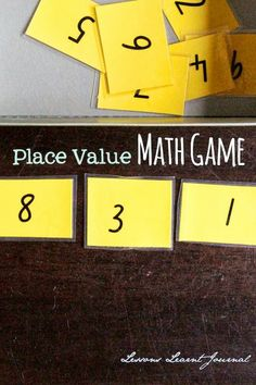 Place Value Math Game (from Learn with Play at Home)