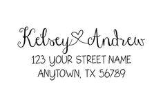 Personalized Self Inking Address Stamp - Return address stamp R210