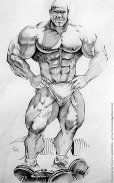Easy Drawings Of Body Builders
