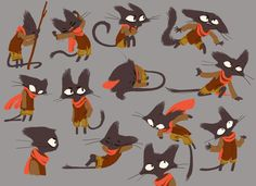 cat model sheet by ~nounouille on deviantART ✤ || CHARACTER DESIGN REFERENCES | Find more at https://www.facebook.com/CharacterDesignReferences if you're looking for: #line #art #character #design #model #sheet #illustration #expressions #best #concept #animation #drawing #archive #library #reference #anatomy #traditional #draw #development #artist #pose #settei #gestures #how #to #tutorial #conceptart #modelsheet #cartoon