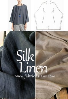 How to sewing linen top? Linen shirt free sewing pattern. Summer top idea.