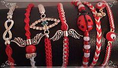 Βραχιόλια - Μαρτης Macrame Bracelets, Jewelry Patterns, Baba Marta, Jewerly, Crochet Necklace, Stitch, Boho, Crafts, Collections