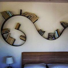 Kartell Bookworm bookshelf designed by Rob Arad with Grafix Wall Art ...