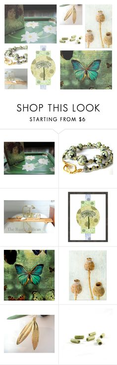 """""""Botany And Butterflies"""" by jarmgirl on Polyvore featuring vintage"""