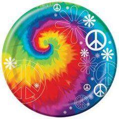 """Woodstock Tie Dye 9"""" Plates"""