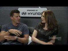 David Boreanaz and Emily Deschanel EW Interview Comic-Con 2013