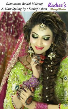 See Latest Makeup Ideas for Mehndi event By Famous Makeup Artists Wedding Eye Makeup, Bridal Hair And Makeup, Hair Makeup, Engagement Hairstyles, Wedding Hairstyles, Bridal Hairstyle, Famous Makeup Artists, Elegant Wedding Hair, Desi Wedding