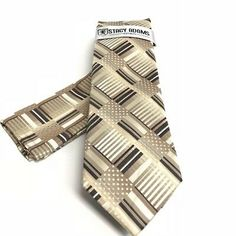 Stacy Adams Men's Tie Pocket Square Set Khaki Brown Bone Microfiber Hand Made | eBay Pocket Square Styles, Tie And Pocket Square, Cool Things To Buy, Wonderful Things, Fun Things, Tie Set, Tie Colors, China Fashion, Free Items
