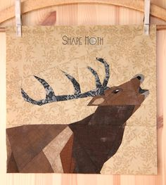 Another Monday and another animal in our Forest QAL. 'Roaring deer'. The block is freshly finished as I started sewing today (the weather d...