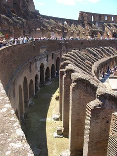 Inside the Coliseum, Rome. I can very proudly say that it is much more incredible in person
