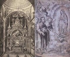 Altar de San Fernando en la parroquia del Sagrario y la aparición de la Virgen de Guadalupe