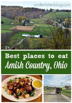 The best places to eat in Amish Country, Ohio - Millersburg, Ohio is my hometown and I've eaten at all these places so I can give you my opinion on the places you should eat! From baked goods to a Sports Pub- here are my favorite restaurants in Holmes Co Best Places To Eat, Places To Travel, Day Trips In Ohio, Amish Restaurant, Berlin Ohio, Millersburg Ohio, Amish Country Ohio, Wooster Ohio, Lancaster Ohio