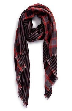 Sole Society Sole Society Check Print Scarf available at #Nordstrom