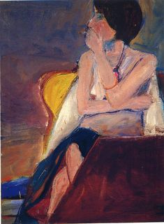 Richard Diebenkorn Girl smoking