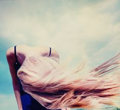 blue skies and blond hair