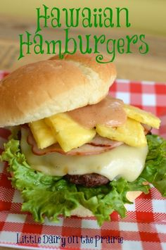 I'm a sweet and salty addict. Maybe that's why this burger is perfect for me.  Sweet pineapple with salty ham, cheese and sauce!