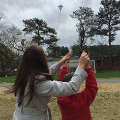 Let's go fly a Kite! Gabriel & Dana on Kite Day at Eastside Christian School 3/2015
