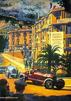 Monaco Grand Prix 1933 Artist: Barry Rowe