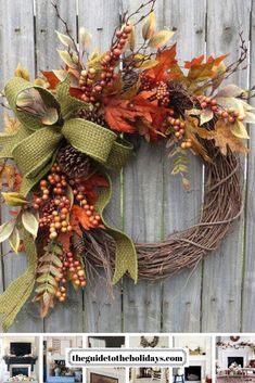 """These fall wreath ideas are guaranteed to """"wow"""" your guests! From a fall hydrangeas to pumpkin wreaths there is something for everyone!"""