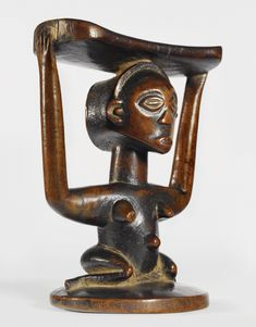 Luba Caryatid Headrest, Democratic Republic of Congo.  c. prior to 1965