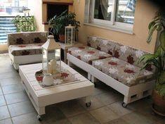 Veja só como com um pouco de arte pode transformar a sua palete num belo sofá