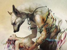 Art And Illustration, Werewolf Art, Wow Art, Fantasy Artwork, Surreal Art, Vampires, Erotic Art, Dark Fantasy, Dark Art