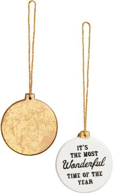 H&M - 2-pack Christmas Ornaments - Gold