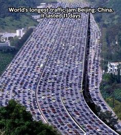 Today's WTF: Longest traffic jam in the world…