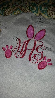 Bunny Monogram tshirt by MadysonAvenue64 on Etsy