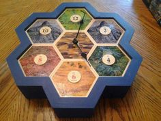PortableGamer: Awesome Mayfair Games edition Settlers of Catan pieces made into a clock! Board Game Cafe, Board Games, Carcassonne Board Game, Settlers Of Catan, Game Room Decor, Game Rooms, Game 3, Room Themes, Geek Stuff