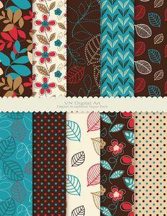 Leaf Digital Scrapbook Paper Pack dpi by VNdigitalart Digital Paper Free, Digital Scrapbook Paper, Digital Papers, Free Paper, Fabric Design, Pattern Design, Paper Art, Paper Crafts, Owl Clip Art